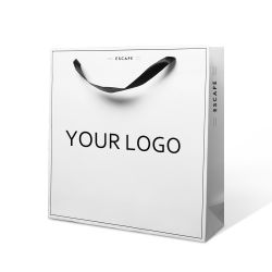 شعار الطباعة المخصص ورق الطباعة أبيض ورق ورق حمل ورق التسوق التغليف حقيبة لهدية المجوهرات