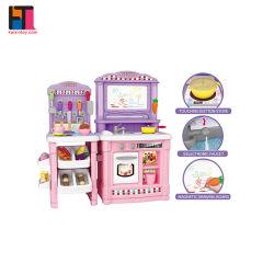 [أمزون] حارّ لعبة يزعم بنات يطبخ لعبة لعبة بلاستيك لعبة مطبخ يثبت لأنّ جدي