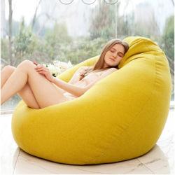 高品質S/M/L/XLカラー流行の寝室の家具の無地の単一の豆袋の不精なリネンソファーカバーDIYによって満たされる内部(詰物無し)