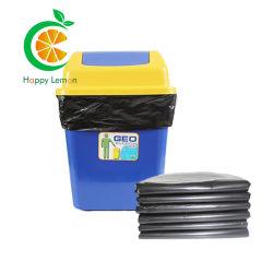 生分解性の世帯大きい大きい黒い色プラスチック屑のガベージ袋