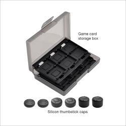 Thumbstickは任天堂スイッチゲームのアクセサリのためのゲームのカードの収納箱キットをキャップする
