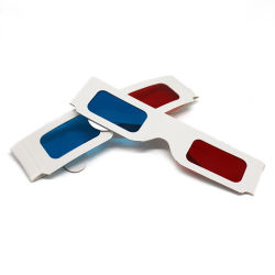 3D 보는 영화관을%s 빨간 청서 유리