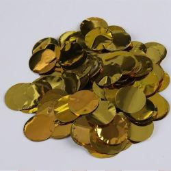 عرض زخارف حفلات مقاس 2.5 سم مستدير زفاف متوالي من النسيج الذهب الوردي الفضي الذهبي من الألومنيوم بالجملة