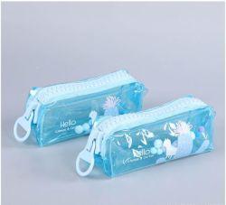 Прозрачный ПВХ школьных принадлежностей случае замороженных круглость Pen карандаш для детей