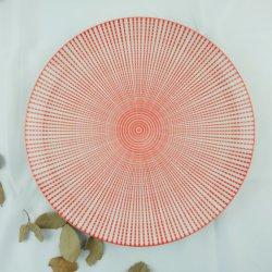 10.5 '' Mond-Form-Porzellan-Platte mit vollen Blumen
