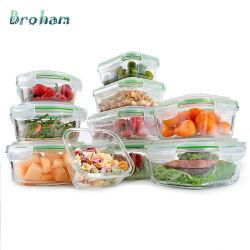 Micro-ondes ou four/congélateur, lave-vaisselle conteneurs de stockage des aliments en verre avec couvercles hermétiques