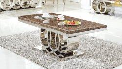 Высокой моды из нержавеющей стали гостиной кофейный столик мебель в золото или серебро - C10