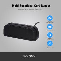 RFID Universal / MSR / Cartão de Chip IC de Tarja Magnética de leitor de cartões combo 4 em 1 com acesso Sdk Hcc790u