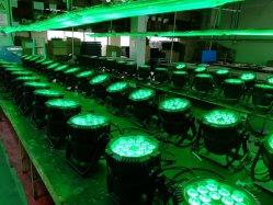 Открытый Rigeba PAR57 высокая мощность 18x10W RGBW 4в1 этапе свадьбы промойте светодиодные PAR лампы Can для альбомной ориентации