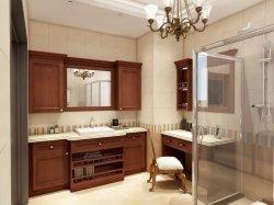 Mobilier de luxe d'accueil personnalisée en usine de conception classique des armoires de salle de bains en bois massif