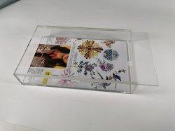 Прозрачный акриловый Clear Photo Frame плексигласа фоторамки окно со сдвижной крышкой