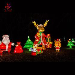 屋外のクリスマスの日本の庭ランプの絹のステンレス鋼の祝祭のランタン