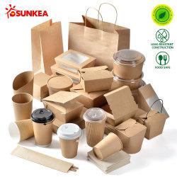 Kundenspezifische Marke gedrucktes Wegwerfpapierschnellimbiss-Verpacken