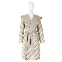 패션 롱 다운 재킷 95% 화이트 덕 다운 의류 여성용 의류 OEM ODM