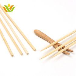 Caramelo de algodón de bambú palillos desechables Kite vara flexible