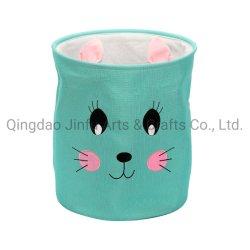 Kids Fabric Cute Storage سلال التخزين الصين التطريز البوليستر لاندي السلال سلّة