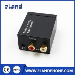 아날로그 L/R RCA 오디오 변환기 접합기 3.5mm에 광학 디지털 동축 Toslink