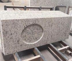 La pierre naturelle adouci/poli/antique/cuir Santa Cecilia de comptoirs en granit blanc pour les intérieurs/décoration intérieure