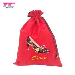 La sublimazione su ordinazione ha stampato i sacchetti di seta del regalo del pattino di corsa, sacchetti rossi di memoria della polvere del pattino del Drawstring del raso