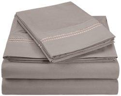 Broderie Wrinkle-Resistant 2 lignes de feuille en microfibre Set-Silver