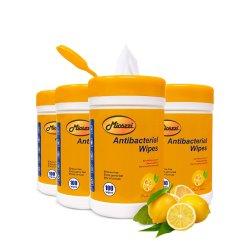 Tecido personalizado Mioszzi 100PCS Domésticos mata 99,9% Os germes Dispositivos Médicos Suprimentos Médicos Álcool toalhetes antibacterianos