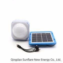 携帯用高品質太陽ランタンまたはランプまたはライトサポートFMラジオ、エムピー・スリーおよび電話充電器