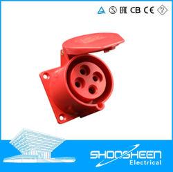 De plastic Shell 32A/5 Industriële Comité Opgezette Contactdoos van Gaten