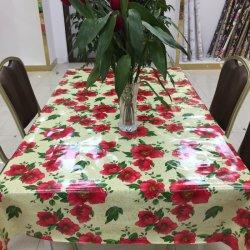 À prova de antiderrapagem oleado impresso Personalizado Flower PVC pano de mesa