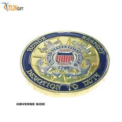 Médaille de haute qualité en alliage de zinc moulé sous pression de cadeau de promotion de l'or Coin