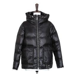 여성용 반바지 가을 겨울 웜다운 재킷 캐주얼 패션 후드 재킷 심플한 단색 의류