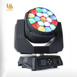 19×15 واط، مصباح الرأس المتحرك ثنائي الشاشة 4×1، التكبير/التصغير، العين، 4×1