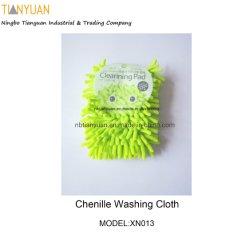 Mitt van het Stootkussen van de Handschoen van de Was van de Auto van Chenille van Microfiber Schoonmakende