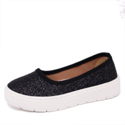 China Fashion New Style Canvas Flat Casual Schoenen Voor Meisjes