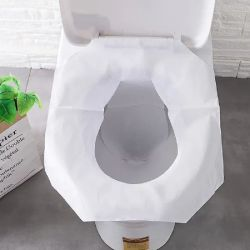 Banho de higiene pessoal de proteção para viagem tecido impermeável wc descartável Papel de capa do assento