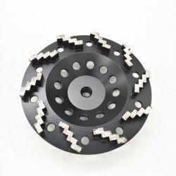 180mm Copa Moagem Zig Zag Diamond de roda para moagem de betão