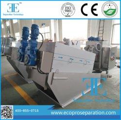 Deshidratación de lodos de la máquina de prensa de tornillo para Depuradoras de Aguas Residuales