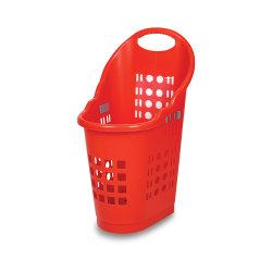 Nuovo design Hdpp plastica Retail Carrello spesa con 2pollici Ruote