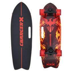 """Iskation 28"""" de madera de arce canadiense Phoenix Pro Skate Surf83 ruedas Surfskate una dureza de la Cruiser de tallar el bombeo de Skateboard para principiantes"""