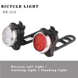 Amazon Hot-Sell USB قابل لإعادة الشحن Bike Front Light وBicycle Rear تم ضبط الضوء