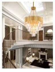 빌라 호텔 장식 계단 펜던트 조명 크리스탈 샹들리에 천장 라이트(TP-E66106-430)