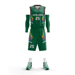 バスケットボールジャージーカスタマイズカスタム最新ユニフォームセットバスケットボールデザイン ジャージーとショートパンツ