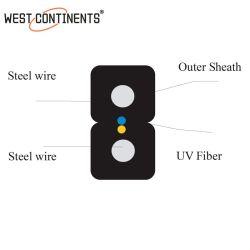 1 2 de 4 Núcleos de cable de fibra óptica FTTH Gjxh