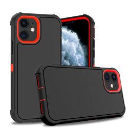 El embalaje minorista para el teléfono celular de los casos para el iPhone 11 golpes funda Clip para cinturón Contraportada