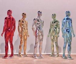 다채로운 남성 마네킹/남성 모델/전기 도금 모델