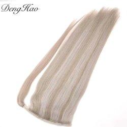 قطعة شعر بشرية ممسورة بنسبة 100% على ذيل الحصان عالية الجودة تمديدات الشعر