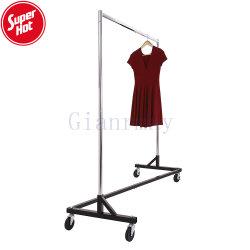 Tienda de ropa de moda soporte colgante de metal Boutique ropa Mostrar Rack