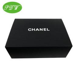 Kundenspezifische schwarze zusammenklappbare Pappspiel-Kosmetik kleidet Kasten-magnetischen Geschenk-Kasten-Weihnachtsgeschenk-Kasten