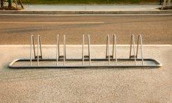 Montado en el piso de acero desmontable Multi-Capacity Puntal de bicicletas