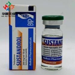 Inmortal Labs Brillo 10ml Etiquetas viales de vidrio Hologram Pharmacy Etiquetas & Sustanon 250 polvo