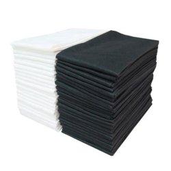 OEM de Witte en Zwarte 40*80cm Beschikbare Handdoeken van de Salon